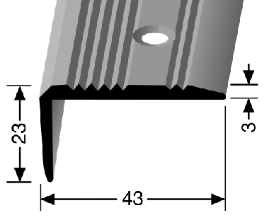 Küberit® Typ 225, Alu Silber, gebohrt