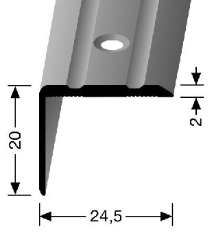 Küberit® Typ 235, Alu Edelstahl, gebohrt