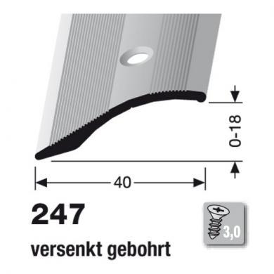 Küberit® Typ 247, Alu Gold, gebohrt