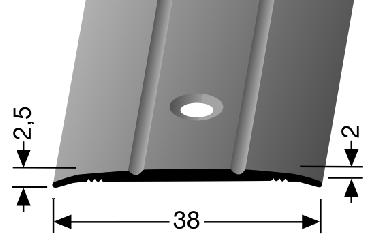 Küberit® Typ 438, Alu Bronze, gebohrt