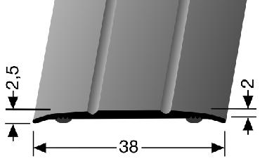 Küberit® Typ 438 SK, Alu Silber, selbstklebend