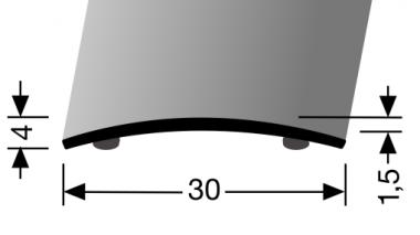 Küberit® Typ 459 SK, Alu Edelstahl feingeschliffen, selbstklebend